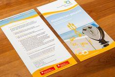 Flyer für das Projektbüro Koordinierung Lausitzer Seenland