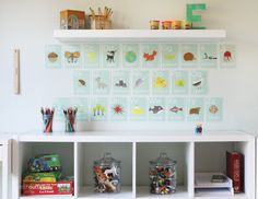 Kid space that encourages learning while being so adorable!