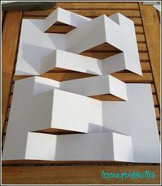 Un mini Pop Up proposé par Nanou Photo Album Scrapbooking, Mini Scrapbook Albums, Mini Albums, Kirigami, Architecture Origami, Mini Album Scrap, Paper Structure, Paper Pop, Karten Diy
