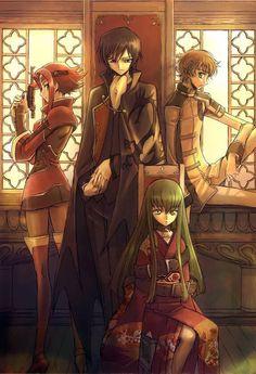 Karen, Lelouch, CC & Suzaku <3