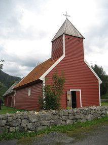 Årdal old church, built in 1620, Norway