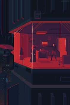 best collection of cyberpunk animated pixel art, portraying a dark, rainy, lonely dystopian future. Vaporwave, Game Design, Pixel Art Gif, Arte 8 Bits, Anim Gif, Cyberpunk Kunst, Space Opera, Comics Illustration, Pixel Animation