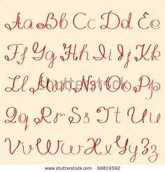 stock vector : handwritten alphabet