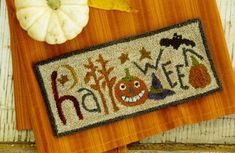 Halloween Punch Needle Pattern by Buttermilk Basin  - I want this pattern!