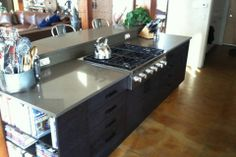 Kitchen Renovation by Hoganwerks Interior Renovations of Snowmass, Colorado Built in Gas Cooktop