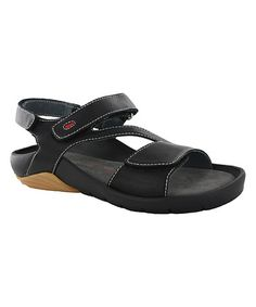 a35507d4ad4a Loving this Black Leather Target Sandal on  zulily!  zulilyfinds Cute Shoes