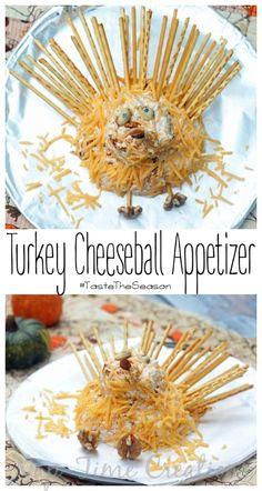 Turkey Cheese Ball Appetizer #TasteTheSeason #CBias #Ad