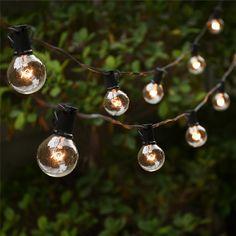 문자열 조명 25 G40 글로브 전구 UL 나열 실내/야외 상업 야외 매달려 우산 정원 안뜰 램프 조명