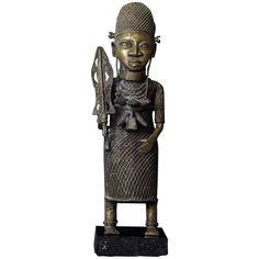 Figurative Sculpture - Century Benin Of Warrior Beninese Tribal Formica, Bronze Famous Sculptures, African Artwork, Sculpture Lessons, Olympic Medals, Outsider Art, Black Power, Bronze Sculpture, Tribal Art, Native American Indians