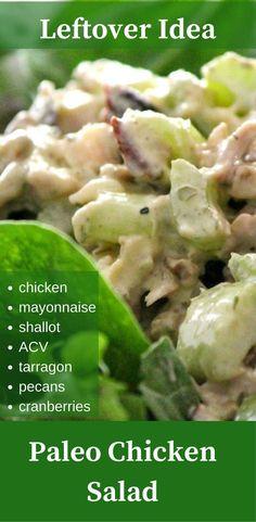 #chicken #chickensalad #leftoveridea #paleo #salad #easyrecipes #easydinner #lunch #paleolunchbox #jenprimalhealth Healthy Salad Recipes, Lunch Recipes, Paleo Recipes, Paleo Chicken Salad, Chicken Recipes, Gluten Free Recipes For Dinner, Whole 30 Recipes, Paleo Lunch Box, Paleo Side Dishes