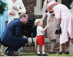 Prince George almost steals the show at Charlotte's christening #dailymail