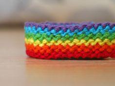 Added by shedrem  Friendship bracelet pattern 8882  #friendship #bracelet #wristband #craft #handmade #rainbow