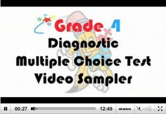Grade 4 Diagnostic Multiple Choice Test - Video Sampler