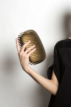 A 3D printed clutch inspired by the urban landscape of the Swiss city that shares its name.