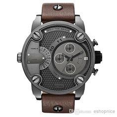 Wrist Watch Buy Online Dz 7258 Oversized Case Mutiple Dials Date Display Rubber Strap Quartz Waterproof Men Watches Dark Brown Strap Online Shopping Wrist Watch From Eshopnice, $9.95| Dhgate.Com