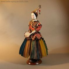 Extraordinary German Porcelain Fortune Telling Doll for the French Market