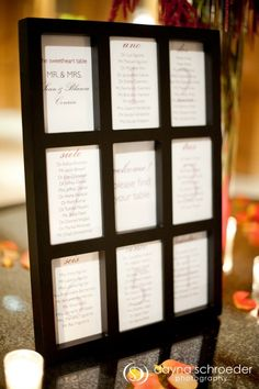 30 Westin River North chicago wedding sweetchic events dayna schroeder seating chart photo frame