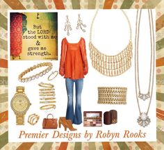 Gold is back! It goes great with the color persimmon. For more styles, go to: http://maridemint.mypremierdesigns.com