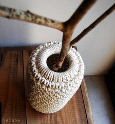 Vase en crochet / récup'