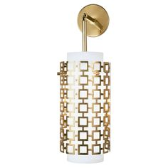 Parker Pendant Sconce design by Jonathan Adler Sconces Living Room, Bathroom Wall Sconces, Hallway Sconces, Jonathan Adler, Contemporary Wall Sconces, Modern Wall, Brass Sconce, Dimmable Light Bulbs, Perforated Metal