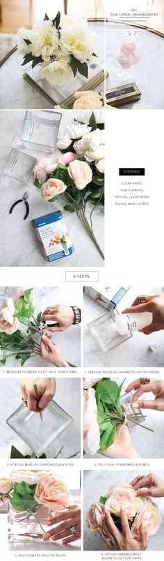 DIY Silk Flower Arrangement_Pictorial_ by Le Zoe Musings