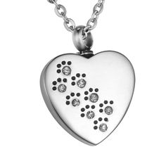 VALYRIA Memorial Diamond Pet Paws on Heart Urn Pendant Keepsake Necklace with Engraving -- To view further for this item, visit the image link. (This is an affiliate link and I receive a commission for the sales) Memorial Stones, Cat Memorial, Dog Itching, Dog Dental Care, Dog Food Storage, Dog Shower, Pet Paws, Dog Diapers, Dog Eyes