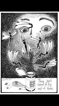 Test Strip Fairies Pen and Ink Diabetes by BirdWingPress on Etsy Type One Diabetes, Diabetes In Children, Unique Drawings, Feel Like Giving Up, Diabetes Awareness, Diabetes Mellitus, Ink Illustrations, Type 1, Fairy