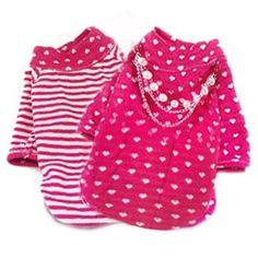 Reversible Pink Hearts Shirt just in time for Valentines Day ! http://shop.poochitoutou.com/girl-dog-clothes/reversible-pink-hearts-shirt-dog-clothes.html