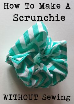 How to make scrunchies - DIY hair ties tutorial - Melly Sews - AmigurumiHouse Diy Hair Scrunchies, How To Make Scrunchies, Ponytail Scrunchie, Cute Crafts, Crafts To Sell, Diy Crafts, Organizing Crafts, Bandana Crafts, Sell Diy