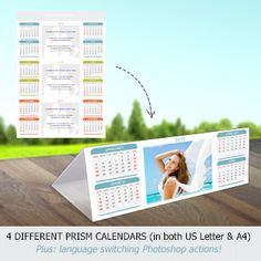 Beautiful personalized calendars choosing from 4 different desktop prism styles. Available in US Letter & A4