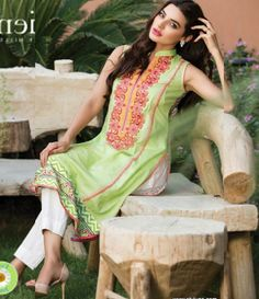 Orient Embroidered Lawn Kurti Collection 2015 OTL_114C