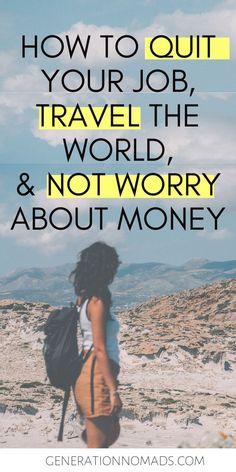Work Travel, Travel Goals, Travel Tips, Travel Articles, Budget Travel, Earn Money Online, Online Jobs, How To Avoid Stress, Freedom Life