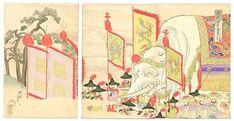 豊原周延: A Gift from the Emperor of China - Japanese Art Open Database  摺り色違いA