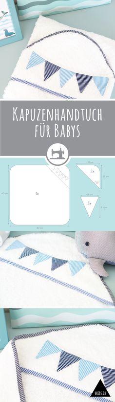 DIY Freebook - Step by Step Bildanleitung & Schnittmuster für ein Baby-Kapuzehandtuch