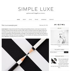 Premade Blogger Template  Instant Download  Simple by ShinyMagic, $30.00 blogger template, ladies blogger template, minimal blog template, blogspot