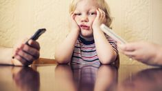 Parents often complain that smartphones keep their kids distracted from conversation. What happens when it's the other way around, when kids can't get their smartphone-glued parents' attention?