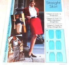 Fabulous pattern - vintage - straight skirt Patterns are nested in two groups of five sizes. Misses' and miss petite size - 4 to 12 Misses' and mis petite size - 14 to 22 Straight Skirt, Vintage Skirt, Petite Size, Vintage Patterns, Sewing, My Style, Skirts, Handmade, Crafts