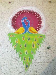 #throwback  Diwali rangoli 2010