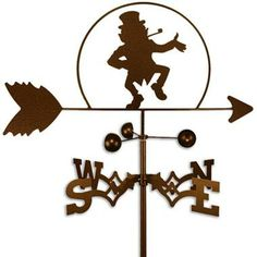 Handmade Irish Leprechaun Weathervane - St. Patrick's Day / Outdoor Living / Home Decor