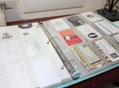 An alternative to throwing peoples cards in a drawer or recycling and another binder for filing all of those business cards colourmoves Choice Image