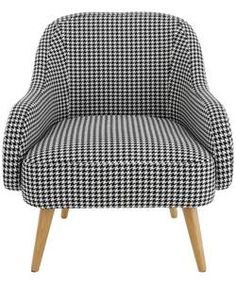 Buy Habitat Momo Black and White Dogtooth Armchair at Argos.co.uk - Your Online Shop for Armchairs and chairs.