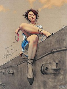 Zhong Baiao chinese art woman from photo of Japanese American model Devon Aoki STREET ART IN CHINA #graffiti #streetart  https://www.etsy.com/shop/urbanNYCdesigns?ref=hdr_shop_menu.
