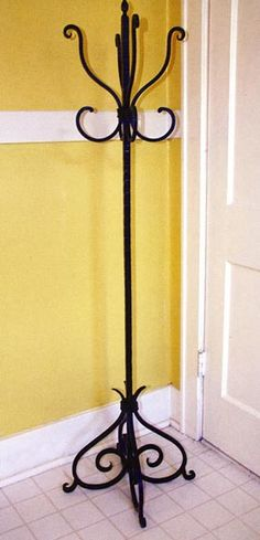 cast iron coat rack Wrought Iron Decor, Wrought Iron Gates, Tutor Style Homes, Lawn Furniture, Fireplace Tools, Coat Stands, Metal Structure, Iron Work, Architect House