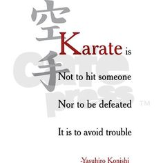 Self defense, against bullying. A boy needs karate in his life to build self confidence and Self esteem......