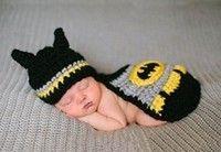 Wish | Newborn Baby Unisex Handmade Kintted crochet photography props animal batman hat cover set infant beanie hat