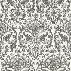York AM8752 American Classics Floral Damask Wallpaper