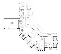Montville Our Designs, Queensland Builder, GJ Gardner Homes Queensland U Shaped House Plans, U Shaped Houses, Dream House Plans, House Floor Plans, Plan Design, Home Design, Autocad, House Plans Australia, Rural House