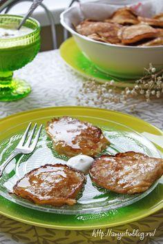 Оладьи с яблоками \ Apple pancakes. #food, #pancakes, #apple, #sweet, #dessert, #breakfast