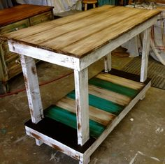 Great piece with so many different uses. #sofa table.. #kitchen island # poolside table and so many more