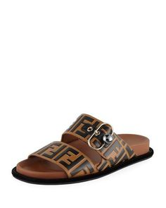 Get free shipping on Fendi Pearland FF Leather Slide Sandal at Neiman Marcus. Shop the latest luxury fashions from top designers.